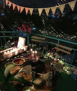 Two Thums 한강, 강남까지 보이는 이태원 최고의 전경(옥상 BBQ Party 가능) - Yongsan-gu - Talo