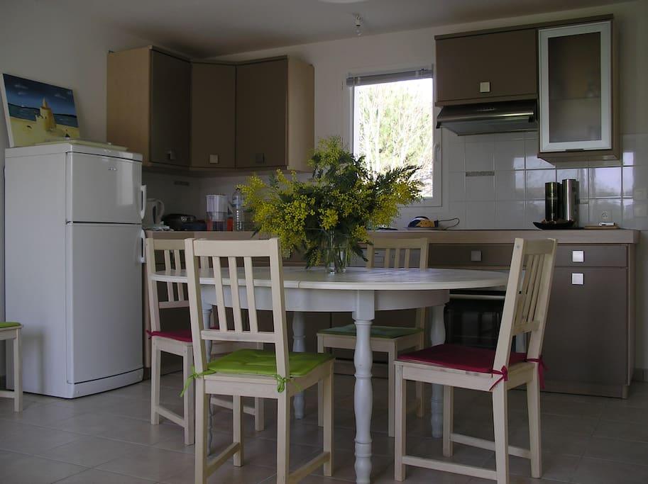 Une partie de la pièce principale : le coin cuisine