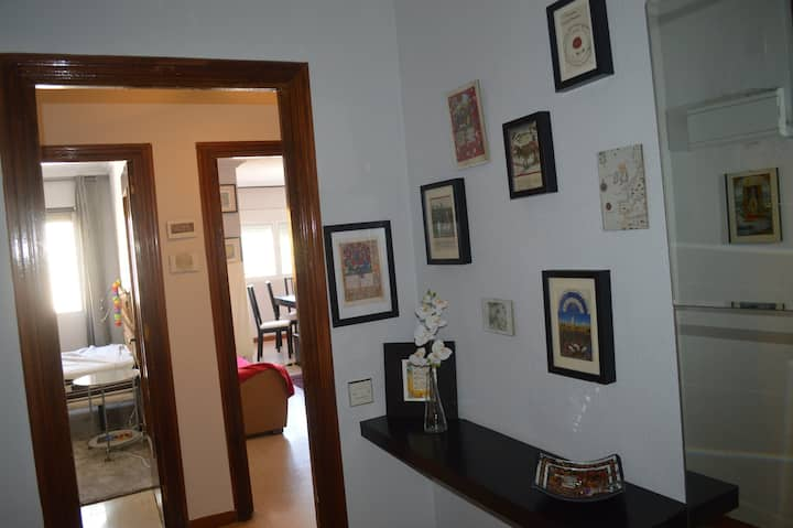 Apartment suitable for groups, bright and wide.