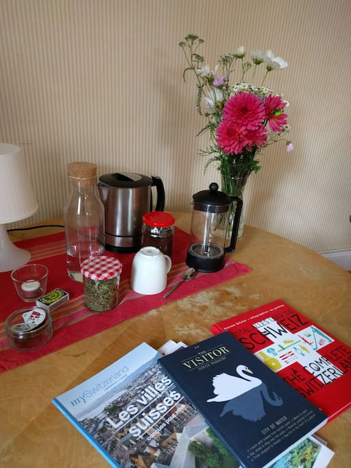 guides, books, coffee and tea