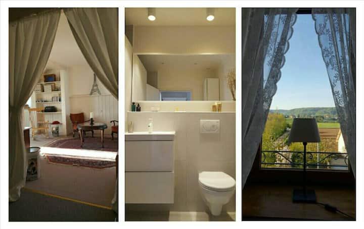 Charming top floor apt w/ private bath & breakfast