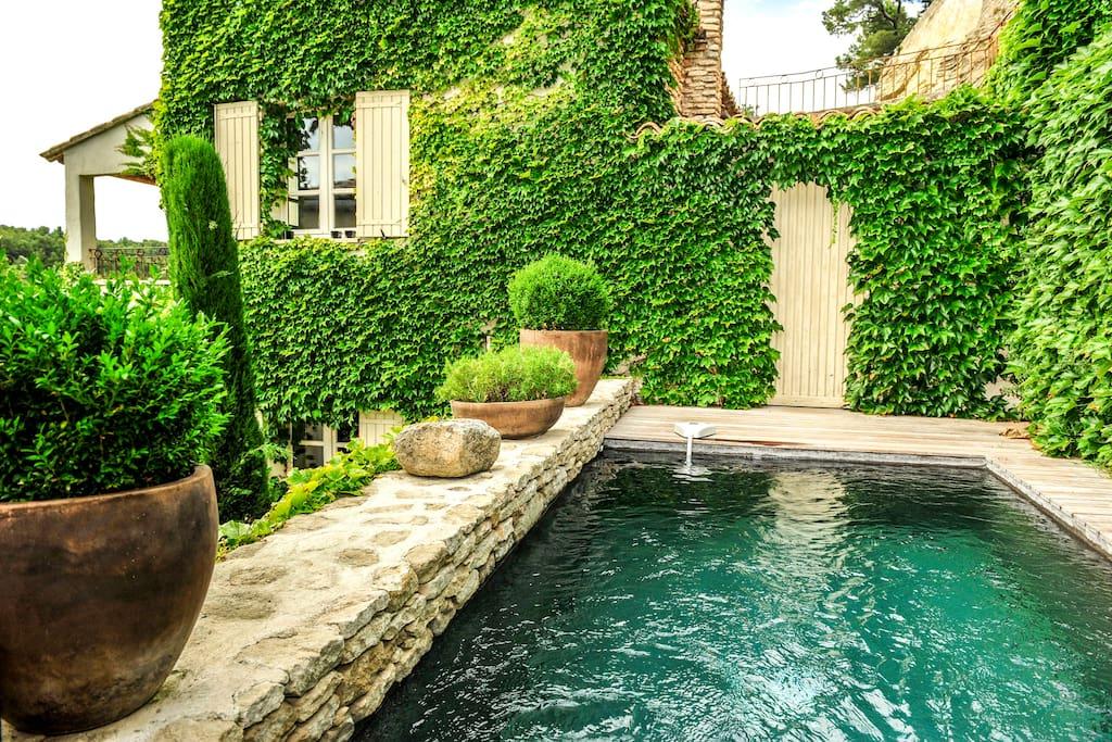 Petit paradis avec piscine provence houses for rent in l for Camping alpes hautes provence avec piscine
