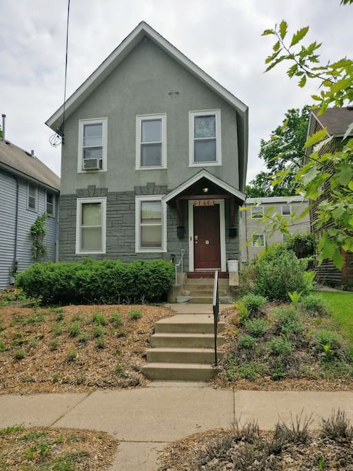 This is our duplex! We're one door from the Upper Riverside Park in a secret little neighborhood in the heart of MPLS.