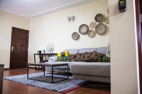 Afro-Bohemian 3 Bedroom Apartment Near Yaya Centre