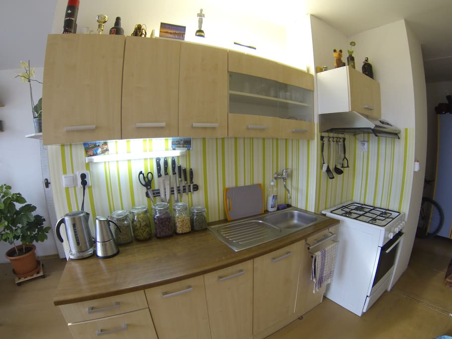 Kitchen with gas cooker