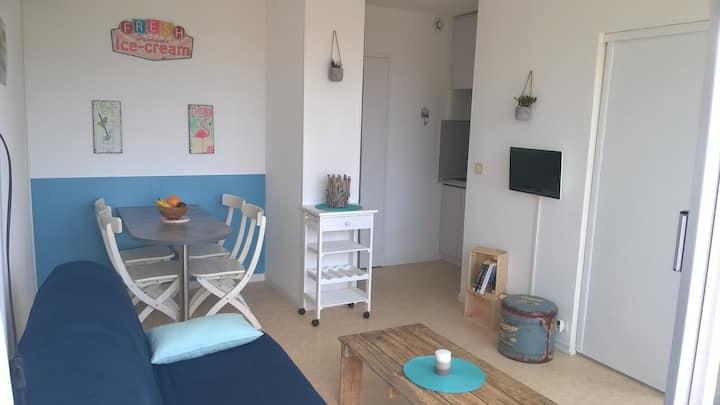 Bel appartement calme, au centre,50m plage,vue mer
