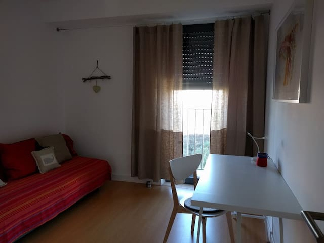 Bedroom 3 sleeps two, can be used as office (printer), has a nice, spacious storage closet and features electric shutters as all rooms do.