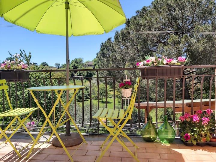 🌺LACASADIROSA🌺camera con balcone e bagno privato