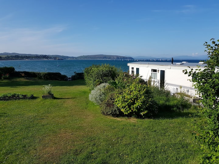 Beach front, private garden, seaside.