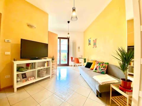 Appartamento con piccolo giardino Rimini+bici