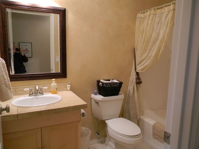 Private bathroom in hallway