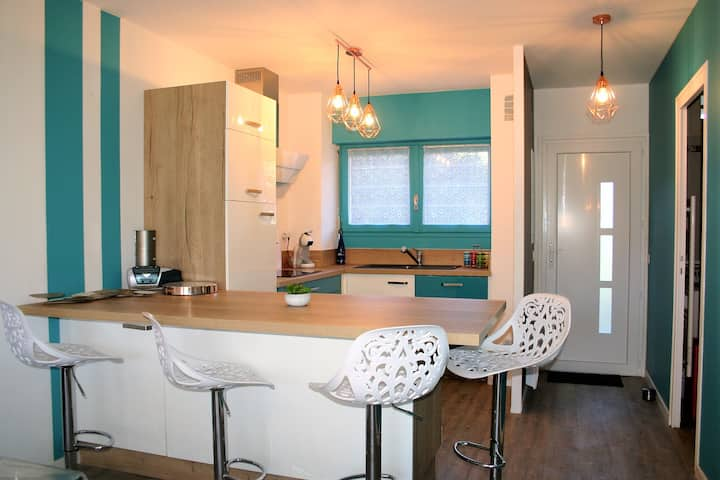Bel appartement pour 4 à 600m de la plage (WIFI)