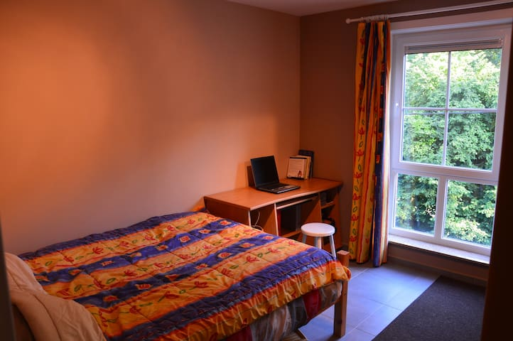 Private bedroom in a 100m² modern flat - Enghien - 公寓