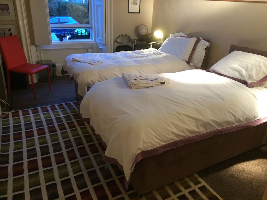 Travelling with a friend? Room can be set up with 2 single beds