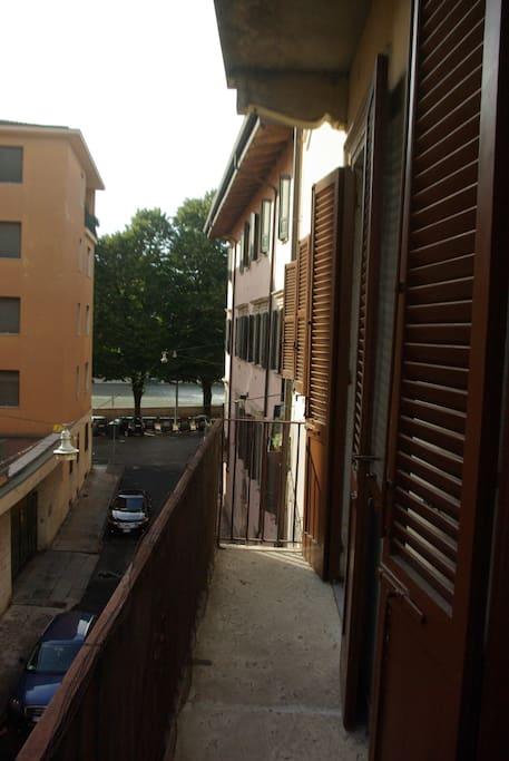 vista fiume Adige dal poggiolo