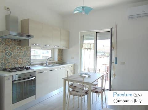 Paestum apartment in villa