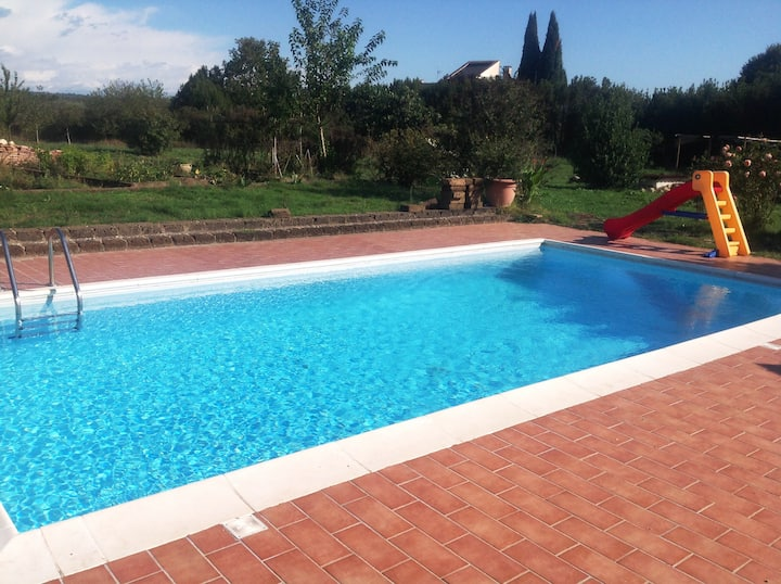 Tuscia Villa with pool 1 hour from Rome