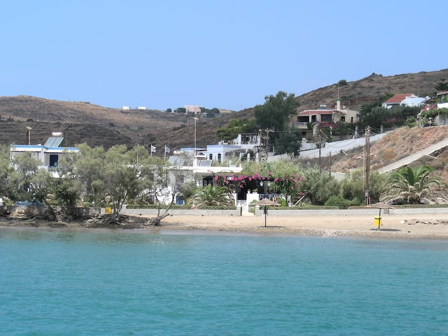 Abela bay is a short walk along a flat road from the apartment and features a fabulous ocean front taverna.