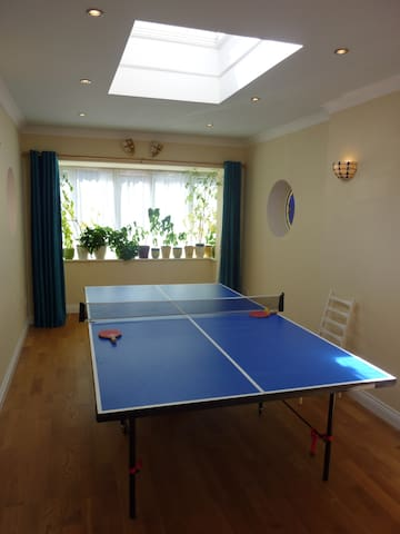 You're welcome to play table tennis