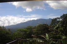 View of the Volcan Baru from the open terrace of The Hacienda