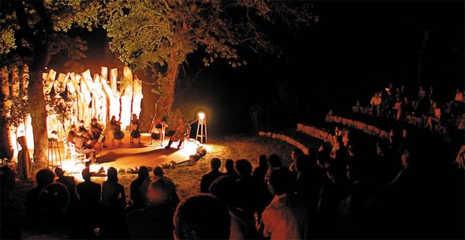 The open-air private amphitheatre is available for private events and weddings