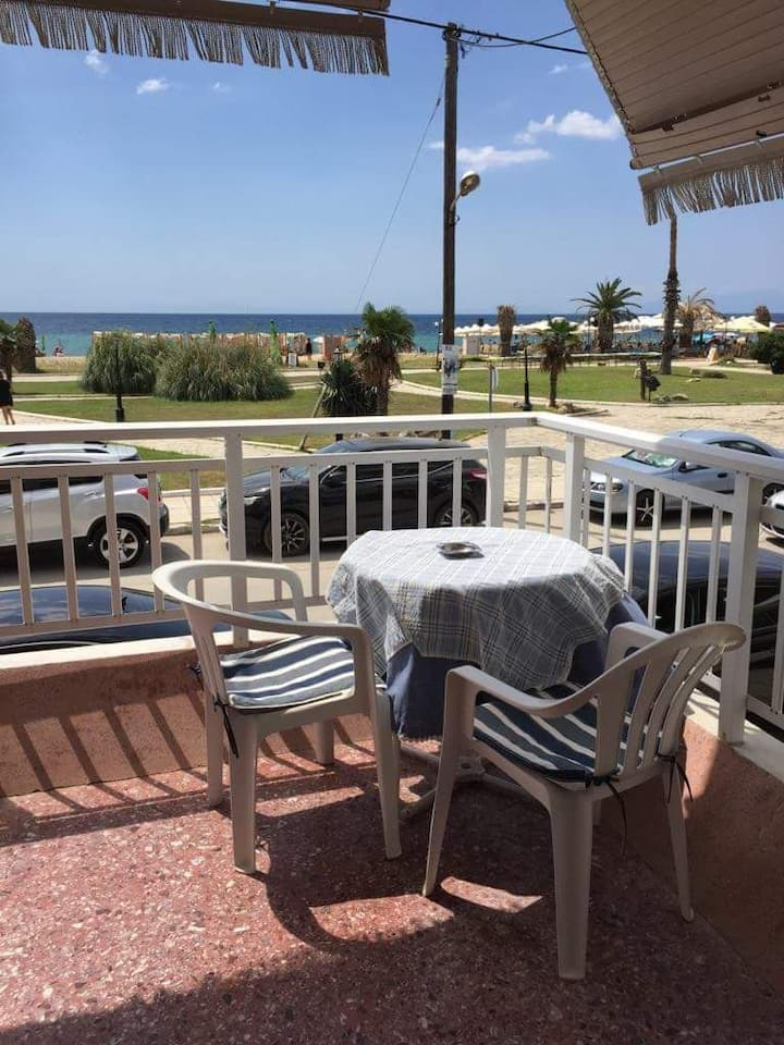 Fully equipped apartment by the sea in Nea Plagia