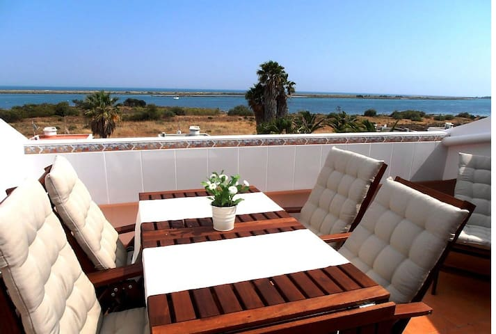 Terrace Flat with Magnificient Sea - Cabanas de Tavira - Loft