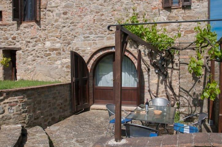comfortable spacious, terrace+pool  - Collebaldo - Leilighet