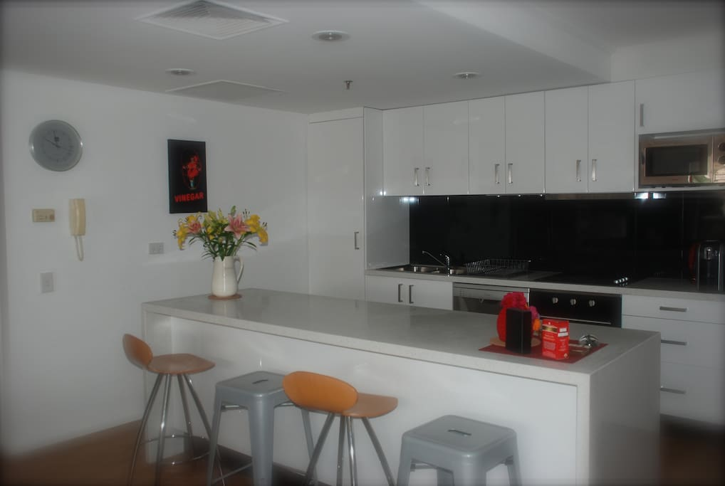 Large fully equipped kitchen - everything you need for home catering.