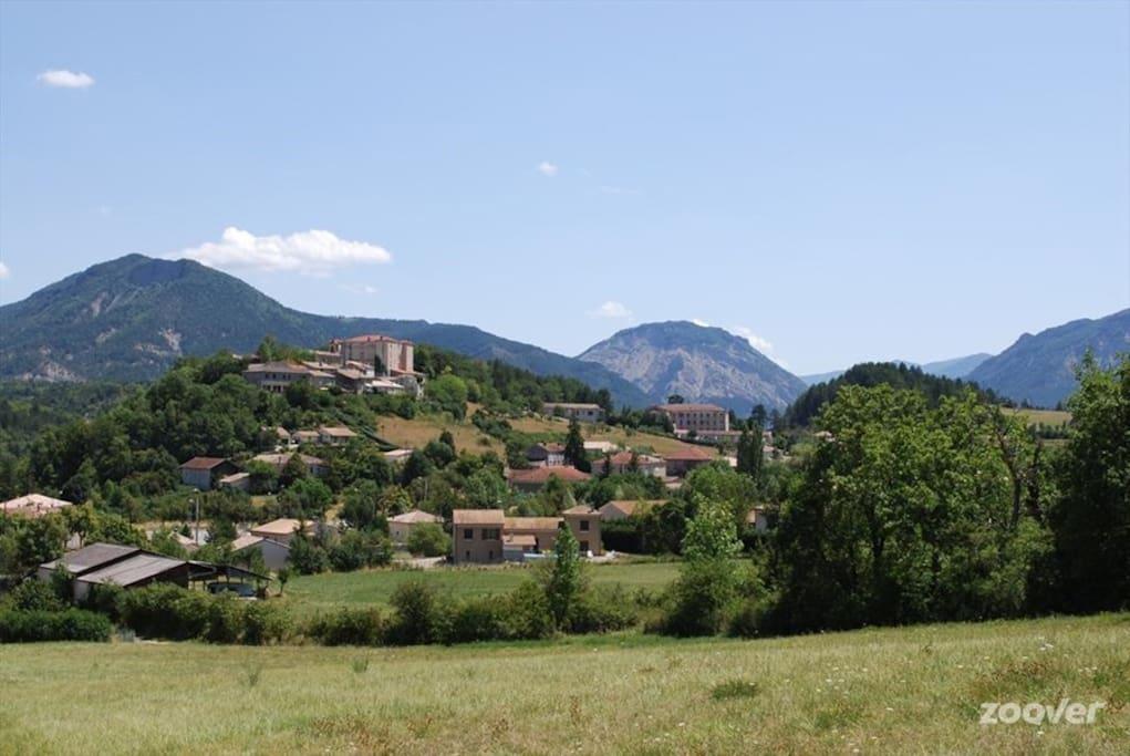 Le village vu du Nord