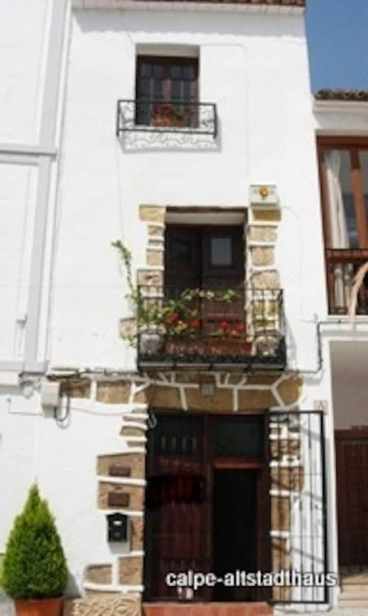 Antique townhouse at the church square in Calpe