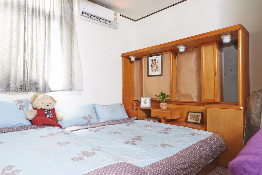 Master bedroom with 3 double beds....:-):-):-)