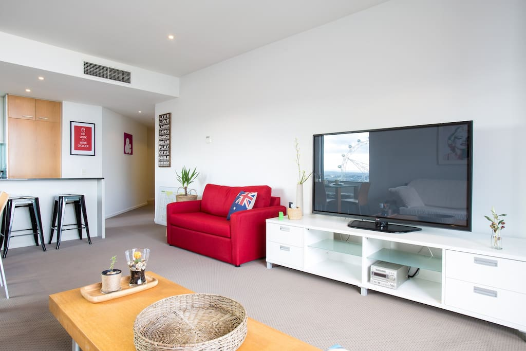 Abundant natural lighting and central air conditioning and heating throughout