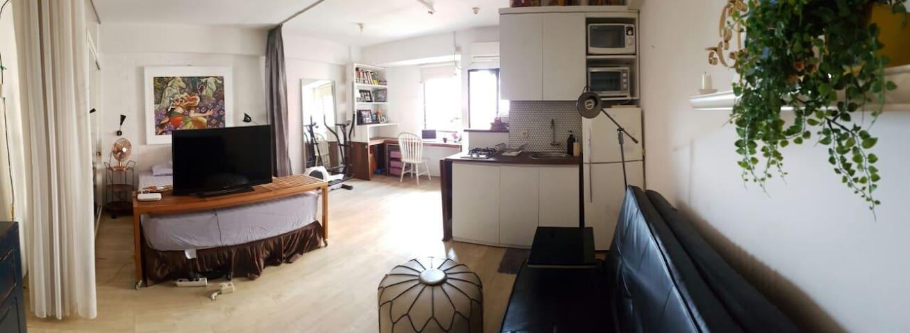 homy studio apartment with many facilities