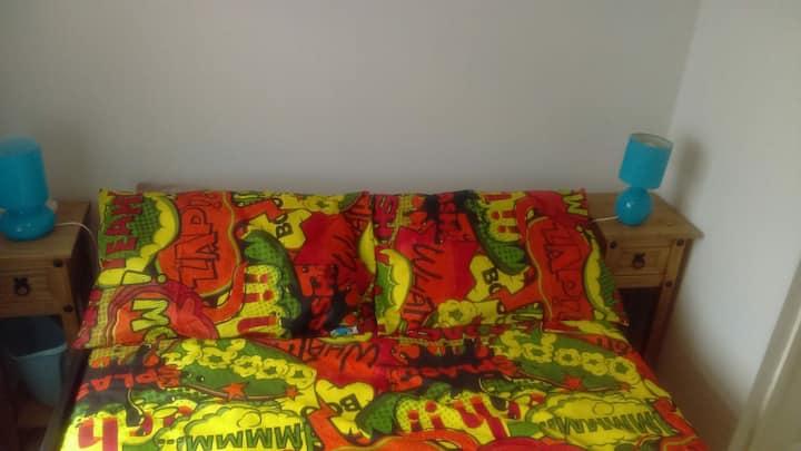 Cosy small double bedroom near city centre.