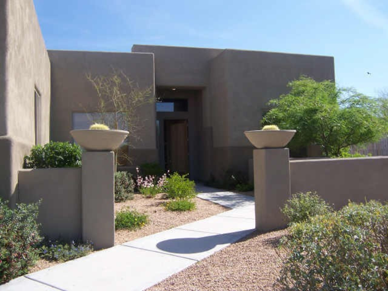 A classic desert territorial style beautiful designer home