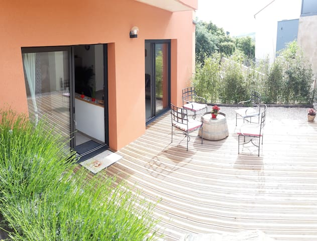 Collioure, Appartement loft 80m2 terrasse parking.