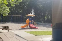 Palmer Park kid play structure. ( a 5-minute walk)