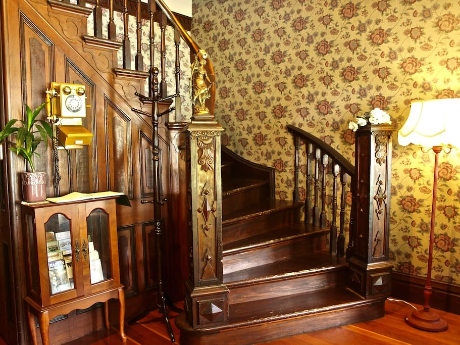Grand staircase in the foyer