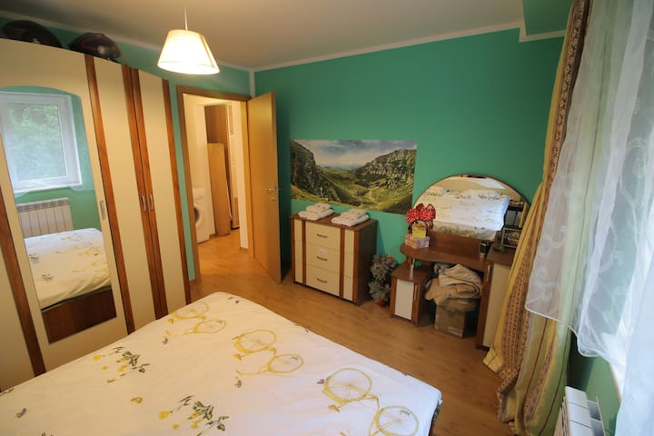 Cozy green double room - București - Byt