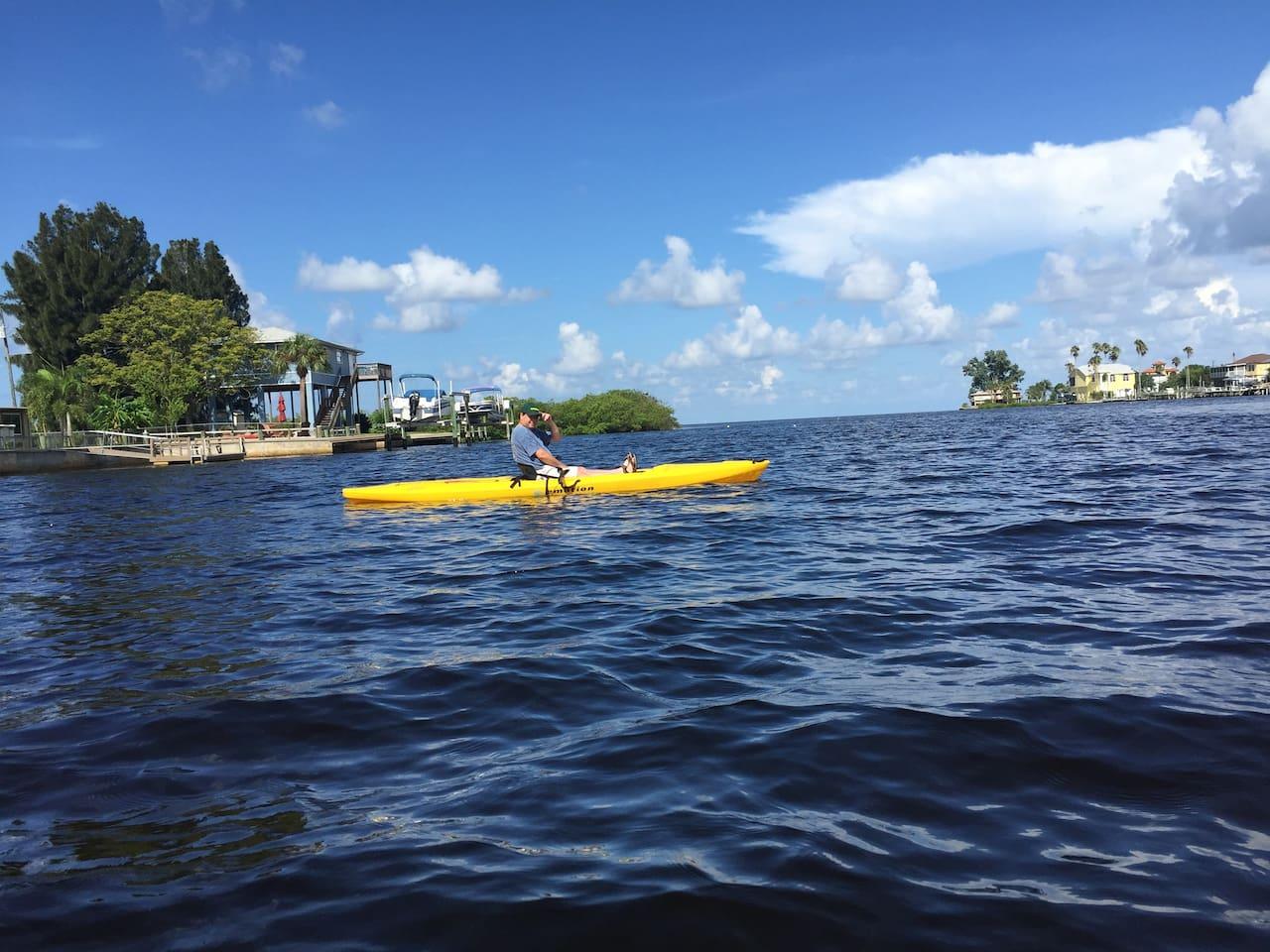 10 minute kayak trip to the gulf