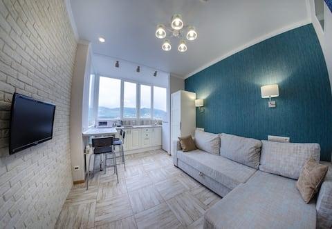 El estudio de 2 habitaciones en la ciudad de Sochi