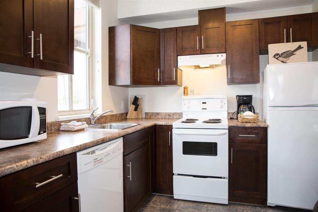 Full-size appliances and dishwasher,  Pemberton Gateway Village Suites