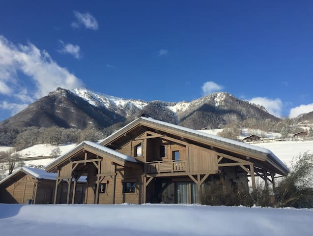 Charming chalet with private pool near ski station - Taninges
