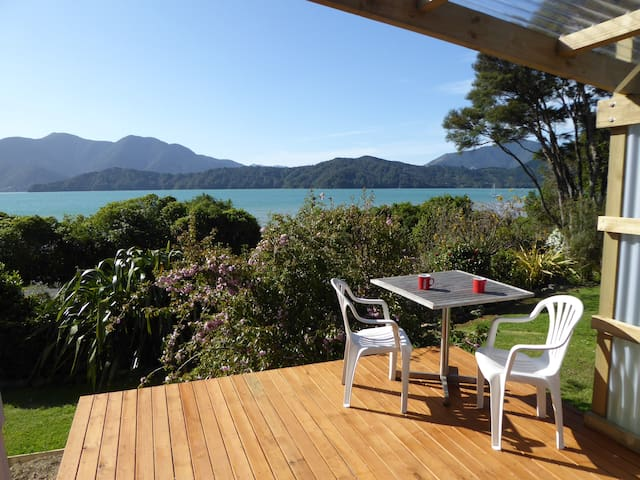 Marlborough Sounds seaside cabin.