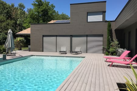 New place with pool in design house