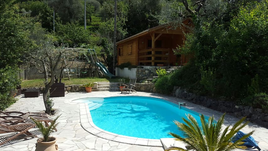 Villa Lou Ni Dou - Wooden Chalet - Saint-Blaise - กระท่อมบนภูเขา