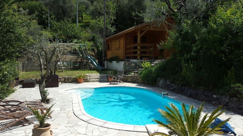 Villa Lou Ni Dou - Wooden Chalet - Saint-Blaise - Bungalo