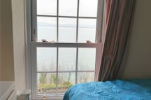 Twin bedroom with estuary views