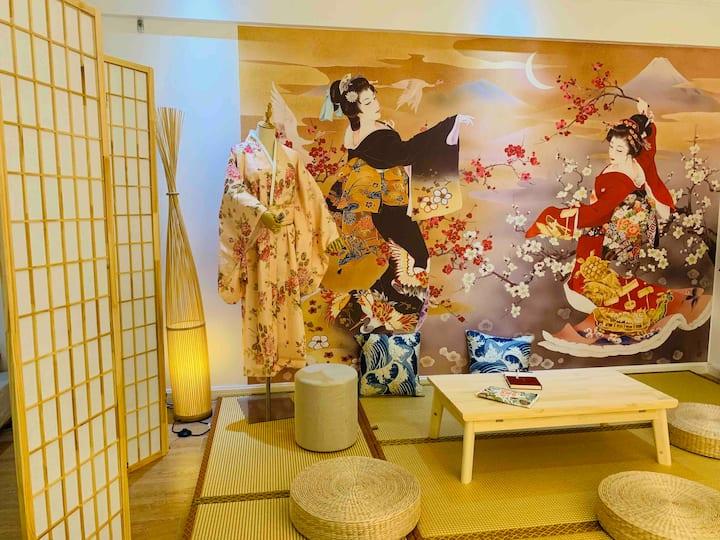 欧尚时尚商业圈 日式榻榻米温馨公寓 可免费试穿多种服饰